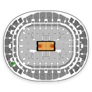Miami Heat at American Airlines Arena Section 403 View