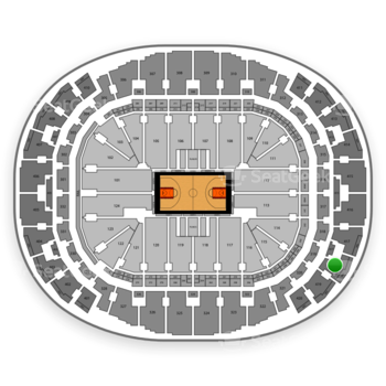 Miami Heat at American Airlines Arena Section 418 View
