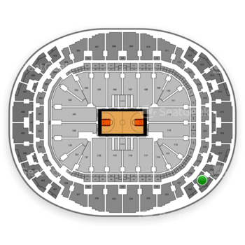 Miami Heat at American Airlines Arena Section 419 View