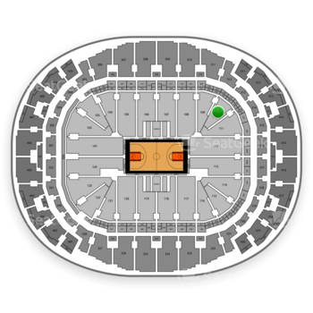 Miami Heat at American Airlines Arena Section 110 View