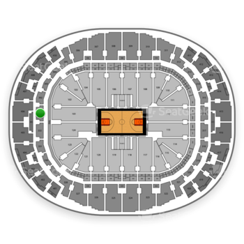 Miami Heat at American Airlines Arena Section 301 View