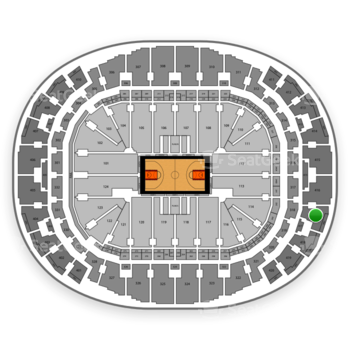 Miami Heat at American Airlines Arena Section 417 View