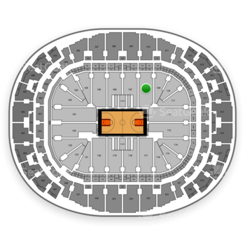 Miami Heat at AmericanAirlines Arena Section 108 View