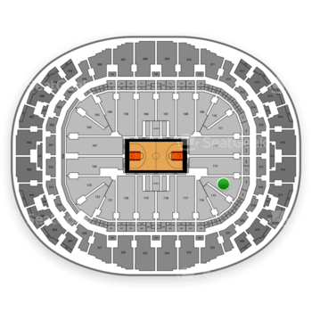 Miami Heat at AmericanAirlines Arena Section 114 View