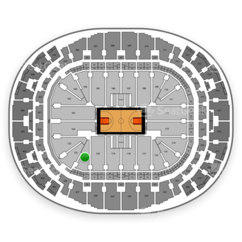 Miami Heat at AmericanAirlines Arena Section 121 View