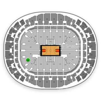 Miami Heat at AmericanAirlines Arena Section 123 View