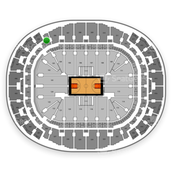 Miami Heat at AmericanAirlines Arena Section 305 View
