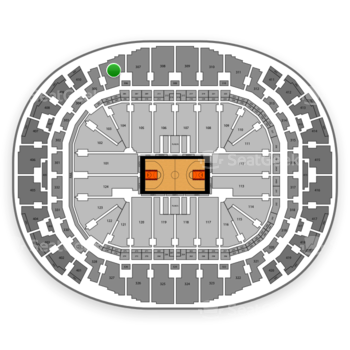 Miami Heat at AmericanAirlines Arena Section 306 View