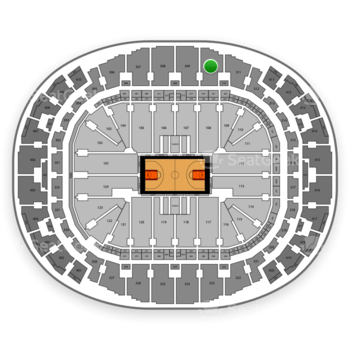 Miami Heat at AmericanAirlines Arena Section 310 View