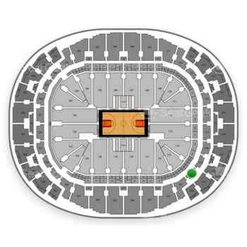 Miami Heat at AmericanAirlines Arena Section 320 View