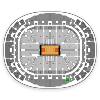 Miami Heat at AmericanAirlines Arena Section 322 View