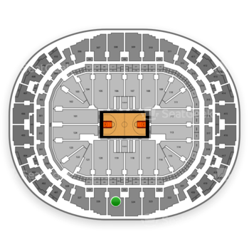Miami Heat at AmericanAirlines Arena Section 325 View