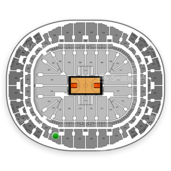 Miami Heat at AmericanAirlines Arena Section 327 View