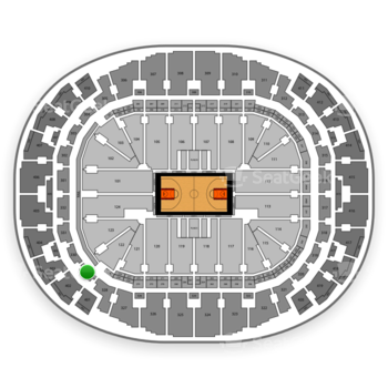 Miami Heat at AmericanAirlines Arena Section 329 View