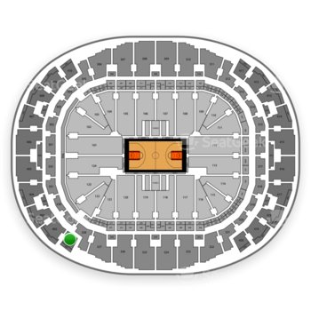Miami Heat at AmericanAirlines Arena Section 401 View