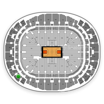 Miami Heat at AmericanAirlines Arena Section 402 View