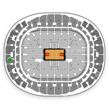 Miami Heat at AmericanAirlines Arena Section 405 View