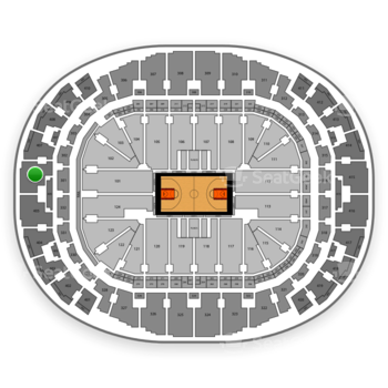 Miami Heat at AmericanAirlines Arena Section 406 View