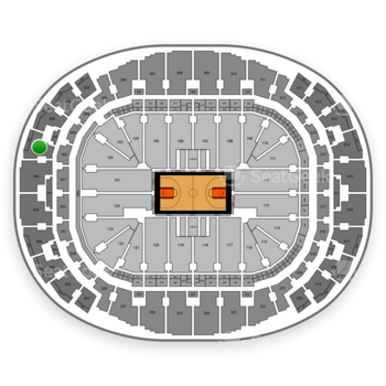 Miami Heat at AmericanAirlines Arena Section 407 View