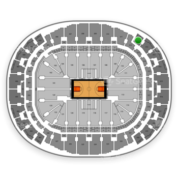 Miami Heat at AmericanAirlines Arena Section 411 View