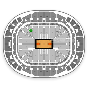 Miami Heat at AmericanAirlines Arena Section 104 View