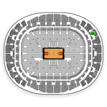 Miami Heat at AmericanAirlines Arena Section 413 View