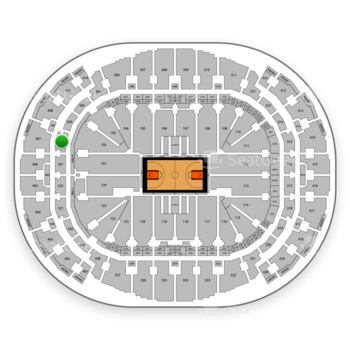 Miami Heat at American Airlines Arena Section 302 View