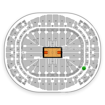 Miami Heat at American Airlines Arena Section 319 View