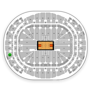 Miami Heat at American Airlines Arena Section 404 View