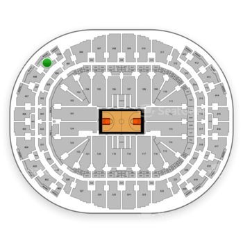 Miami Heat at American Airlines Arena Section 409 View