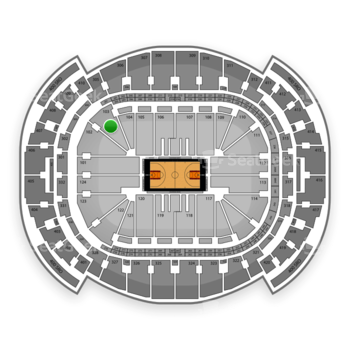 Miami Heat at American Airlines Arena Section 103 View