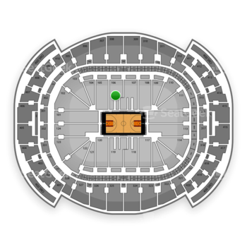 Miami Heat at American Airlines Arena Section 106 View