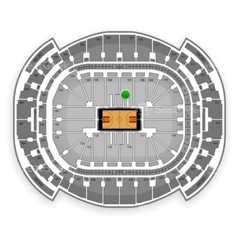 Miami Heat at American Airlines Arena Section 107 View