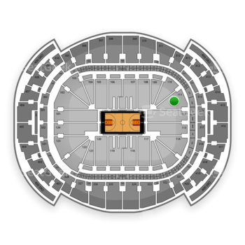 Miami Heat at American Airlines Arena Section 111 View