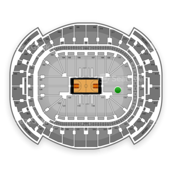 Miami Heat at American Airlines Arena Section 113 View