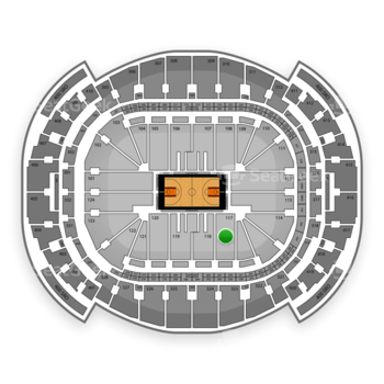 Miami Heat at American Airlines Arena Section 117 View