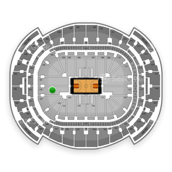 Miami Heat at American Airlines Arena Section 124 View