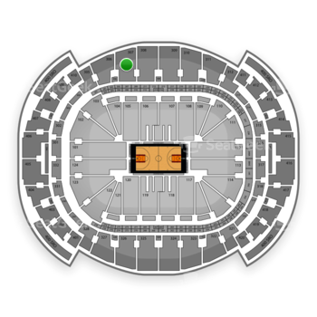 Miami Heat at American Airlines Arena Section 307 View