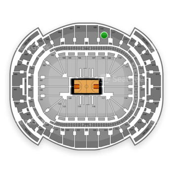Miami Heat at American Airlines Arena Section 310 View