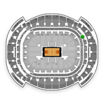 Miami Heat at American Airlines Arena Section 314 View