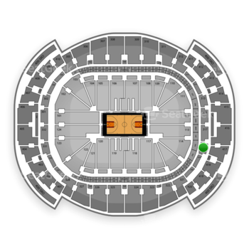 Miami Heat at American Airlines Arena Section 318 View