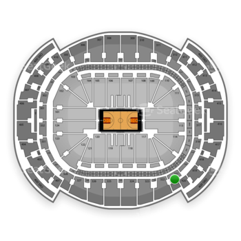 Miami Heat at American Airlines Arena Section 321 View