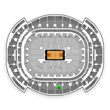 Miami Heat at American Airlines Arena Section 324 View