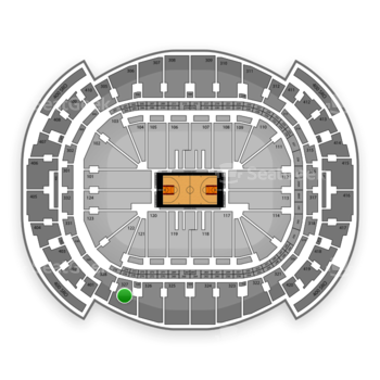 Miami Heat at American Airlines Arena Section 327 View