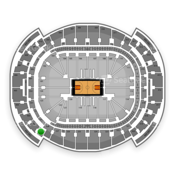 Miami Heat at American Airlines Arena Section 401 View