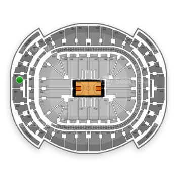 Miami Heat at American Airlines Arena Section 406 View