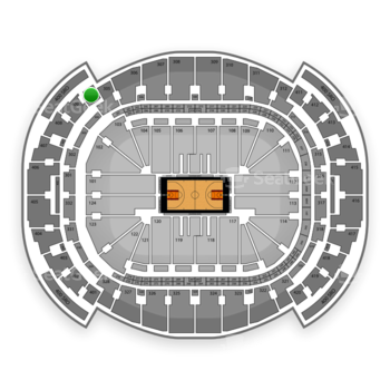Miami Heat at American Airlines Arena Section 410 View