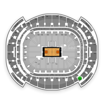 Miami Heat at American Airlines Arena Section 420 View