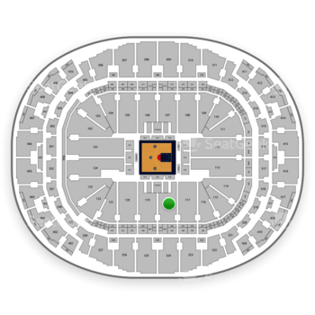 BIG3 at AmericanAirlines Arena Section 118 View