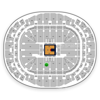 BIG3 at AmericanAirlines Arena Section 119 View